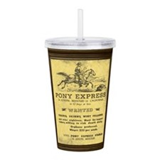 Pony Express Vintage P Acrylic Double-wall Tumbler