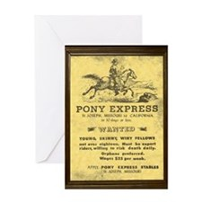 Pony Express Vintage Poster with fr Greeting Cards