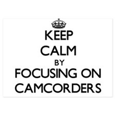 Keep Calm by focusing on Camcorders Invitations