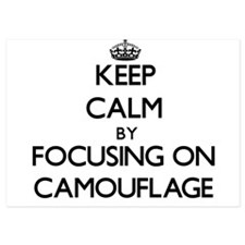 Keep Calm by focusing on Camouflage Invitations