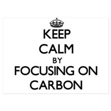 Keep Calm by focusing on Carbon Invitations
