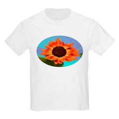 Sun flower blue Kids Light T-Shirt