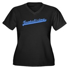 Tantalizing Women's Plus Size V-Neck Dark T-Shirt