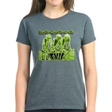 See-Speak-Hear-No EVIL Lime 2 Tee