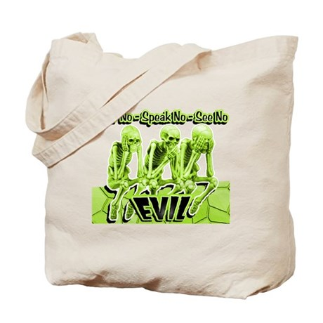 See-Speak-Hear-No EVIL Lime 2 Tote Bag