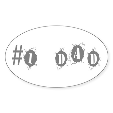 Dad Oval Sticker