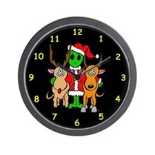 Alien Santa Wall Clock