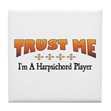 Trust Harpsichord Player Tile Coaster