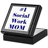 #1 Social Work Mom Keepsake Box