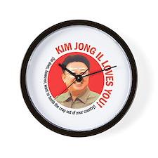 Kim Jong Il Loves You Wall Clock