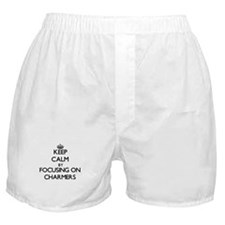 Keep Calm by focusing on Charmers Boxer Shorts