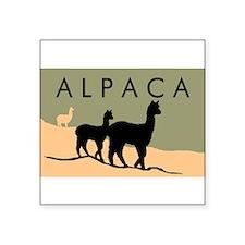 """Funny Alpaca art Square Sticker 3"""" x 3"""""""