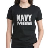 Navy Mom Caps Tee