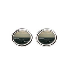 Life can only be understood backwar Oval Cufflinks