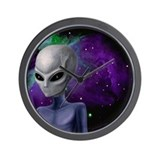 Alien Nebula Wall Clock