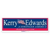 """Kerry Edwards"" Bumper Bumper Sticker"