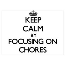 Keep Calm by focusing on Chores Invitations
