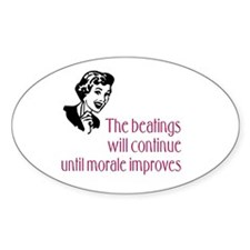 Inspirational Message Oval Stickers