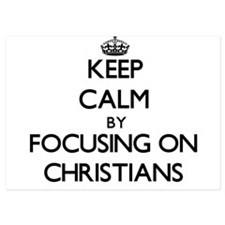Keep Calm by focusing on Christians Invitations