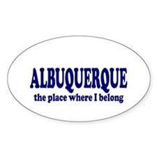Albuquerque Oval Decal