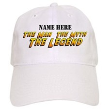 Man Myth Legend Custom Baseball Cap