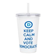 Keep Calm and Vote Dem Acrylic Double-wall Tumbler