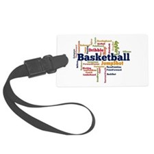 Basketball Word Cloud Luggage Tag