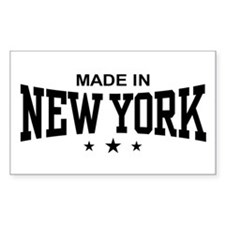 Made In New York Rectangle Decal