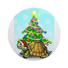 Turtle Christmas Ornament (Round)