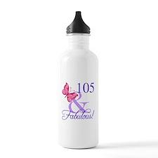 Fabulous 105th Birthda Water Bottle