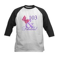 Fabulous 103th Birthday Baseball Jersey