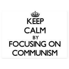 Keep Calm by focusing on Communism Invitations