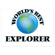 World's Best Explorer Invitations