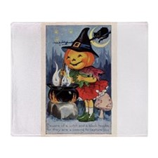 Cool Trick or treat candy Throw Blanket