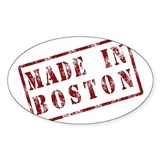 Made In Boston - Oval Decal