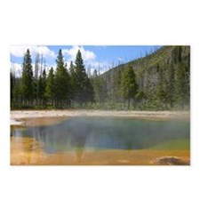 Yellowstone mineral lake #5 Postcards (Package of