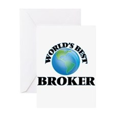 World's Best Broker Greeting Cards