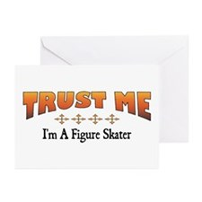 Trust Figure Skater Greeting Cards (Pk of 10)
