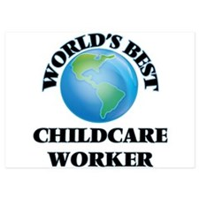 World's Best Childcare Worker Invitations