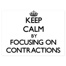 Keep Calm by focusing on Contractions Invitations