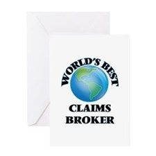 World's Best Claims Broker Greeting Cards