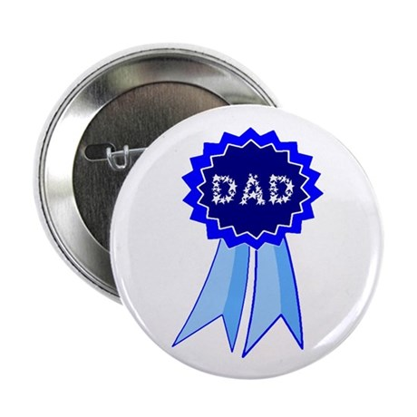 "Dad's Blue Ribbon 2.25"" Button (100 pack)"