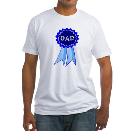 Dad's Blue Ribbon Fitted T-Shirt