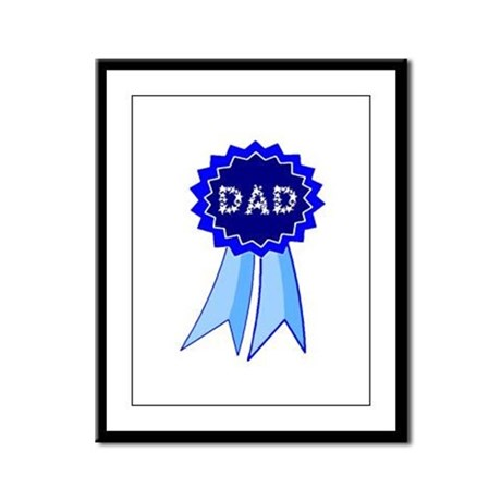 Dad's Blue Ribbon Framed Panel Print
