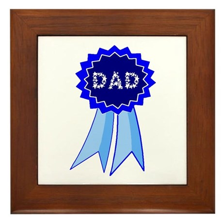 Dad's Blue Ribbon Framed Tile