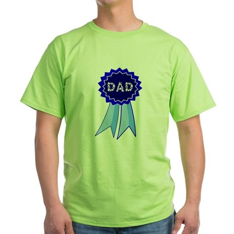 Dad's Blue Ribbon Green T-Shirt