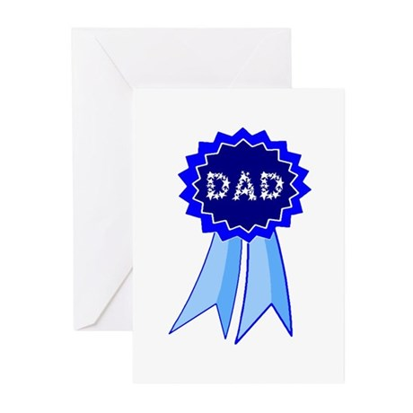 Dad's Blue Ribbon Greeting Cards (Pk of 10)