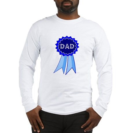 Dad's Blue Ribbon Long Sleeve T-Shirt