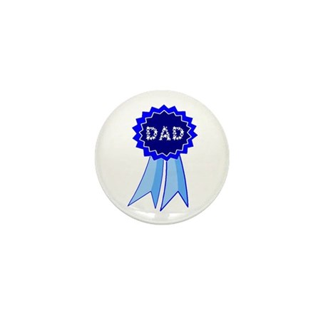 Dad's Blue Ribbon Mini Button