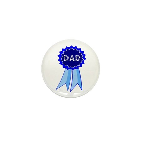 Dad's Blue Ribbon Mini Button (100 pack)